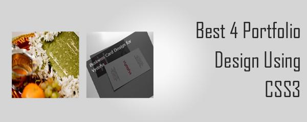 Best 4 Portfolio Design Using CSS3
