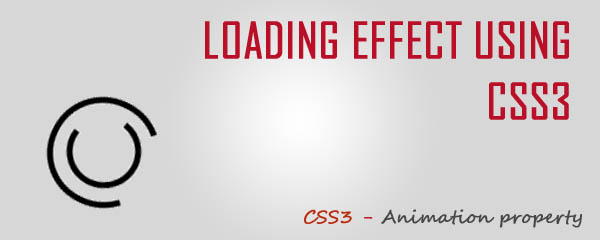 Loading Effect Using CSS3